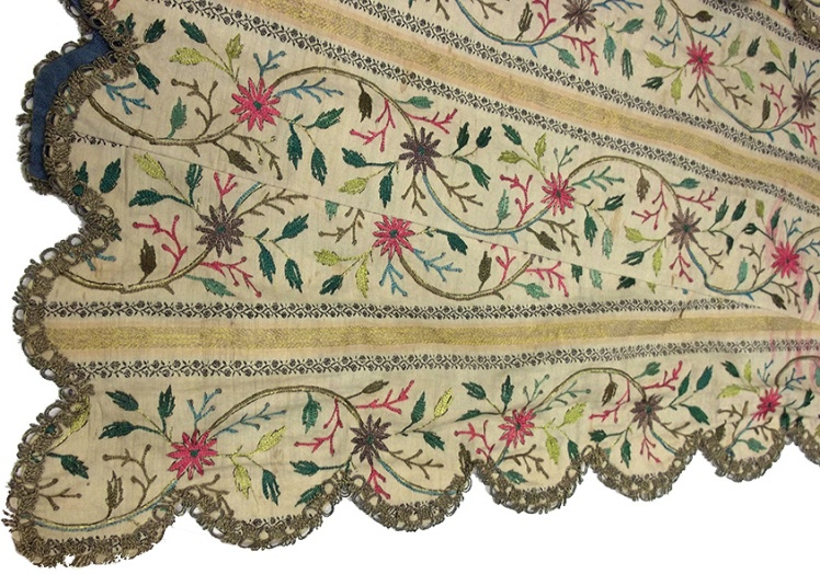 Ottoman entari fabric detail