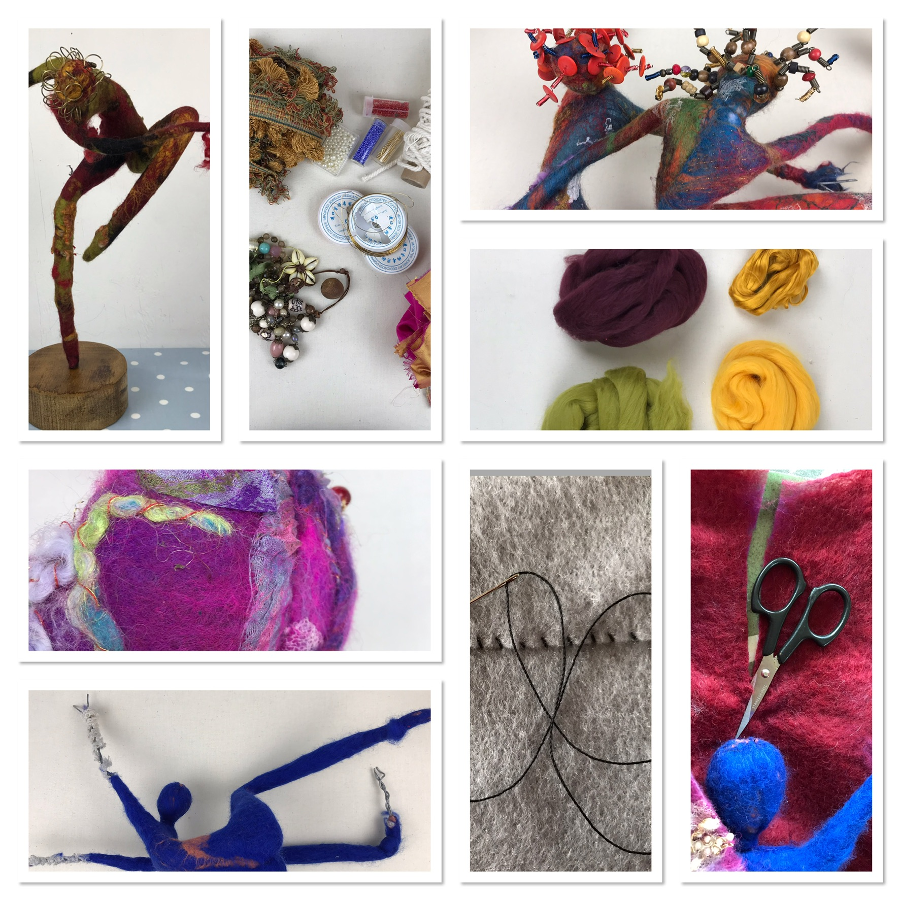 Felt sculpture workshop Molly Williams