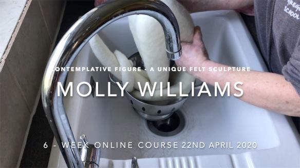 Molly Williams online course felt sculpture