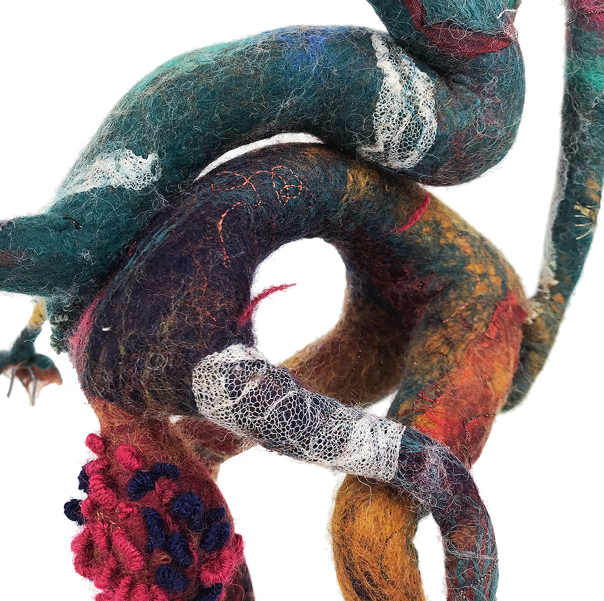 New felt sculptures – Dance a Deux